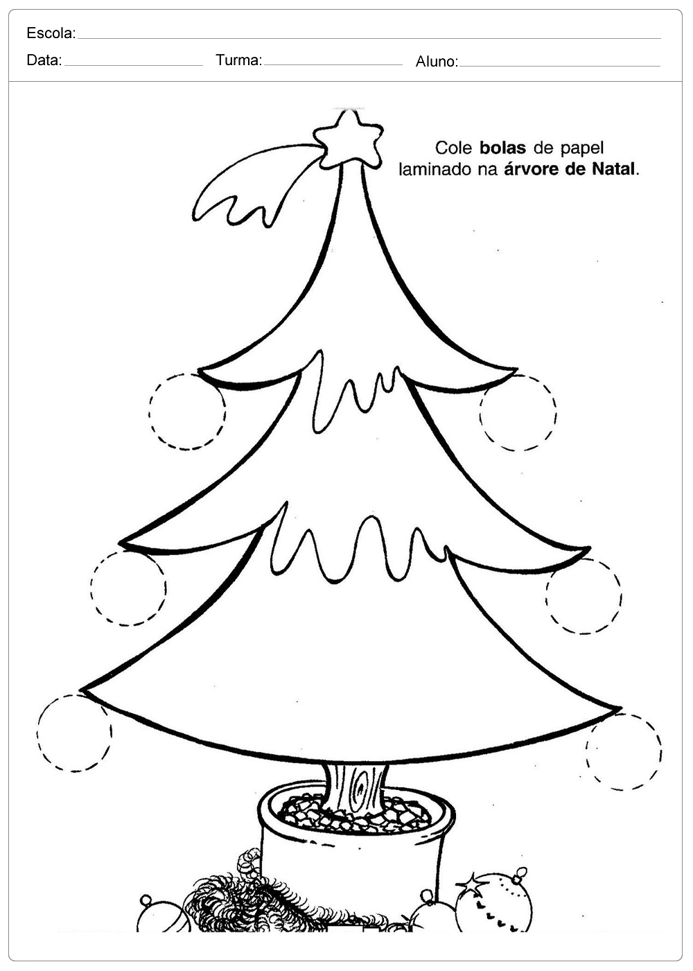 Atividades de Natal - Para imprimir - Series Iniciais.