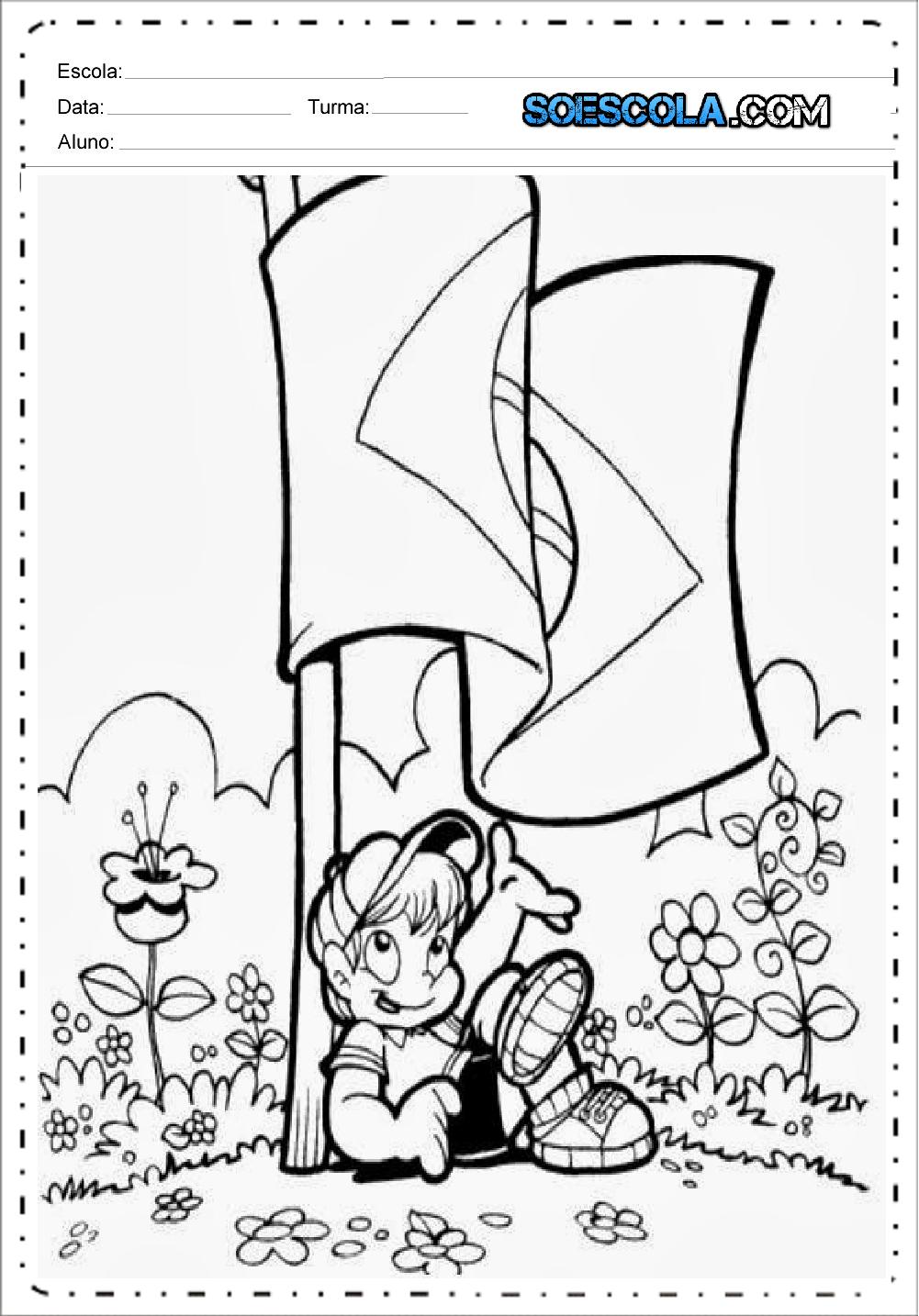 Atividades Dia da Bandeira 2 ano - Para Imprimir - Series Iniciais.