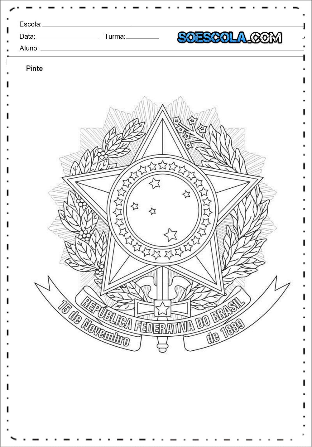 Atividades Dia da Proclamação da República - Para Imprimir - Novembro.