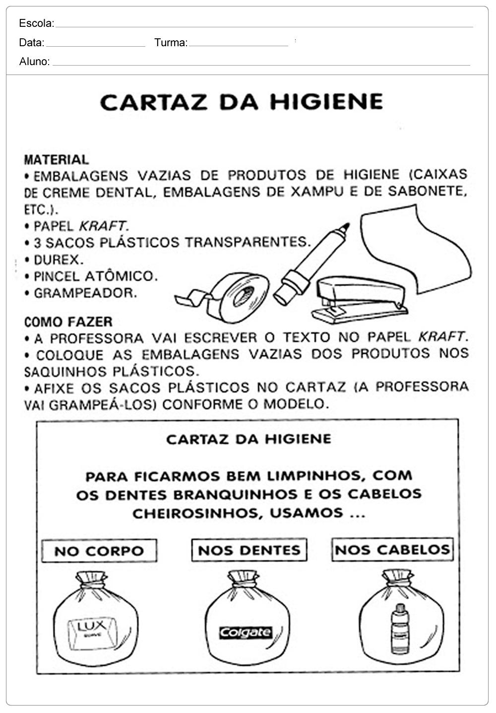 Extremamente Plano de Aula cuidando do corpo - Higiene Pessoal - Ensino  HZ86