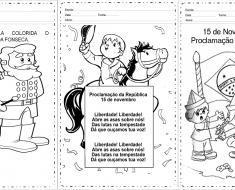 Atividades Proclamação da República 1 ano - Para Imprimir - Baixe.