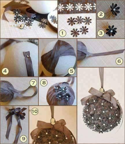 Ideias com Bolinhas de Natal - Decoração para o Natal.
