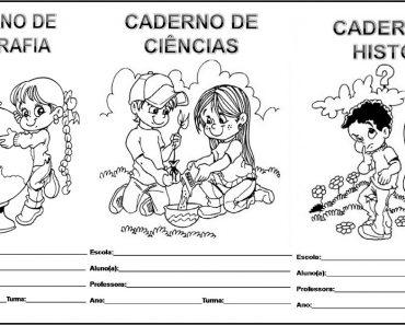 Capas de Caderno para imprimir e baixar em PDF - Modelos Prontos.
