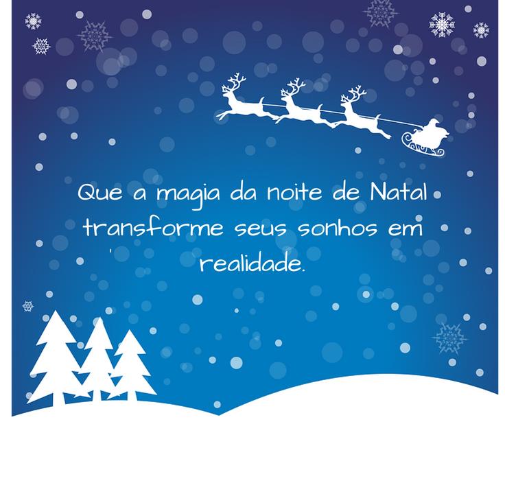 Cartões de Natal e Boas Festas - Cartão de Natal com lindas Mensagens