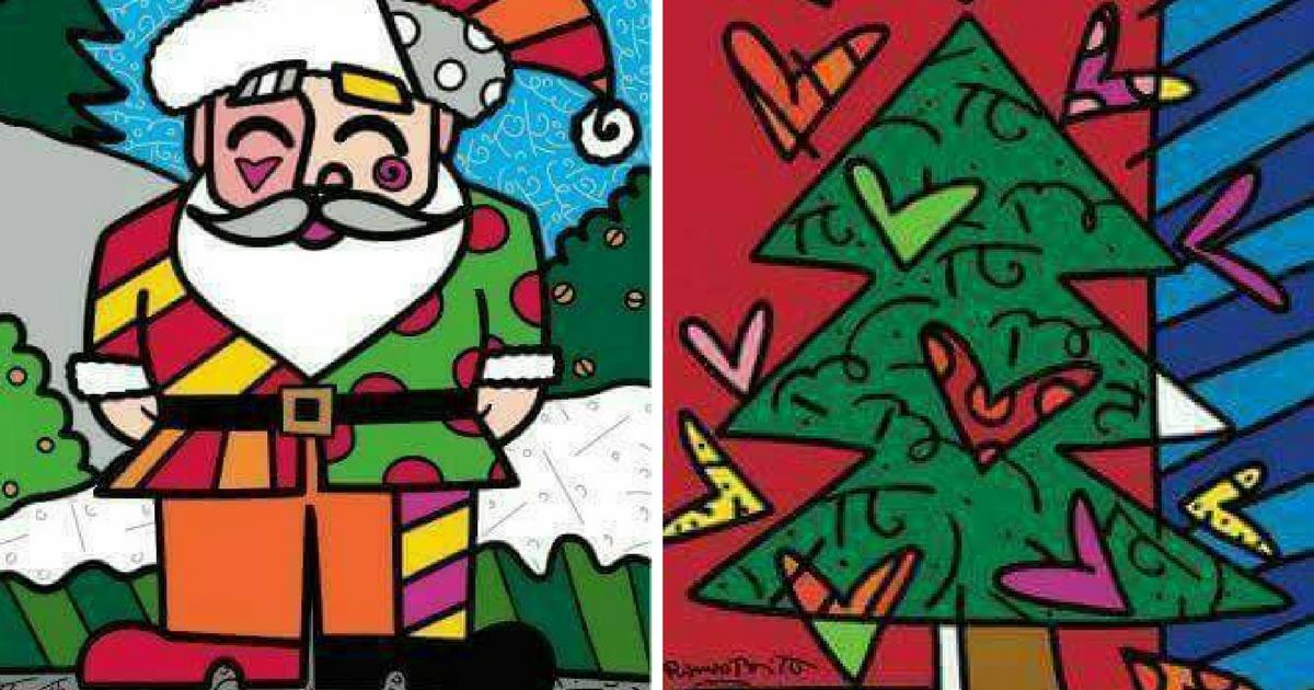 Desenhos contorno chapado de Natal