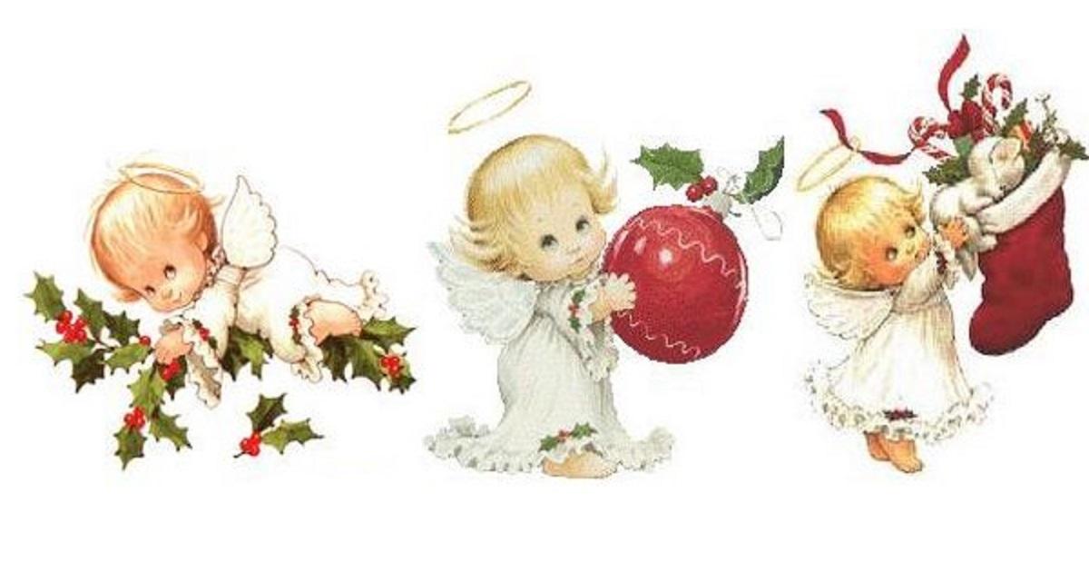 Desenhos De Anjos De Natal Para Imprimir E Colorir