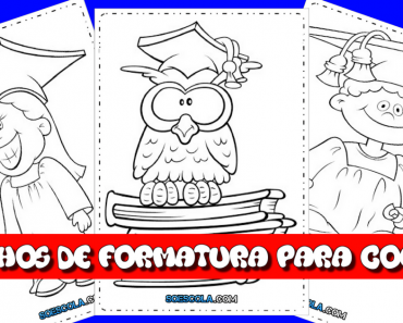 Desenhos de formatura para colorir - Para imprimir