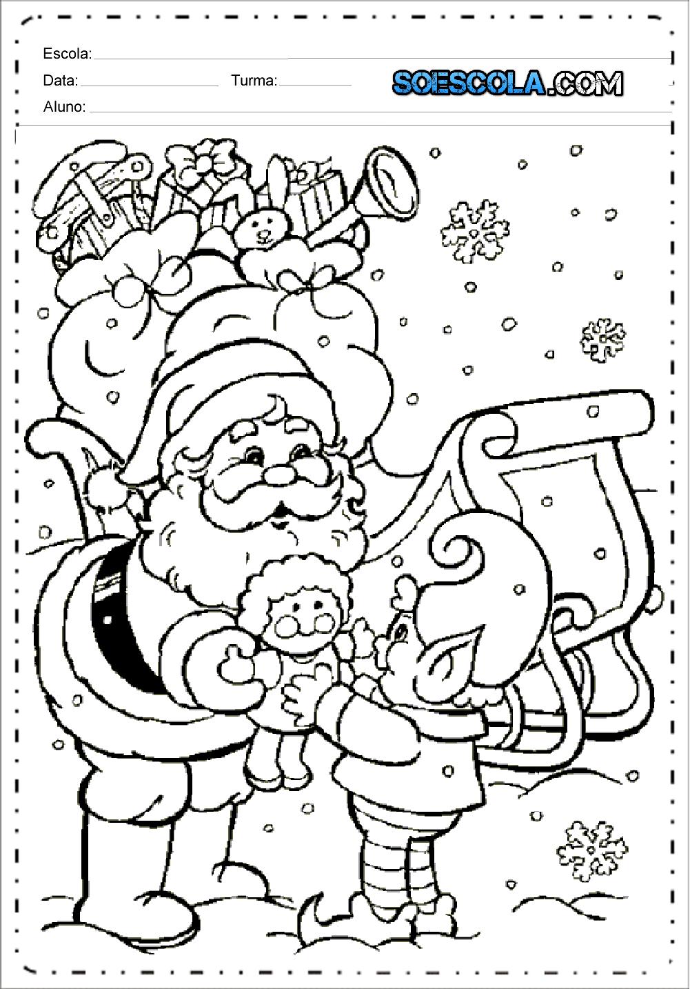 Desenhos De Papai Noel Para Colorir Imprimir So Escola