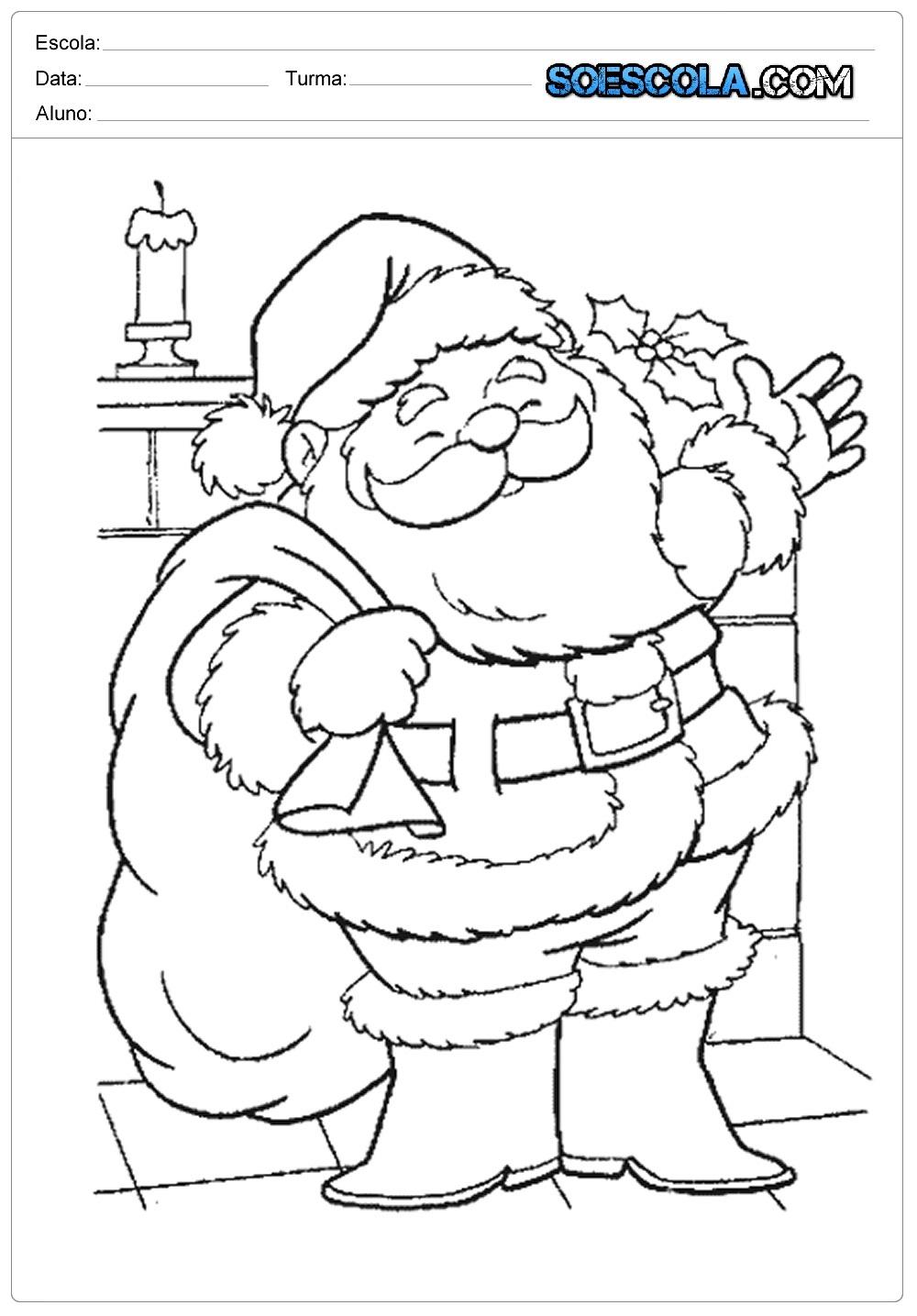 Desenhos De Natal Para Colorir E Imprimir Papai Noel Só