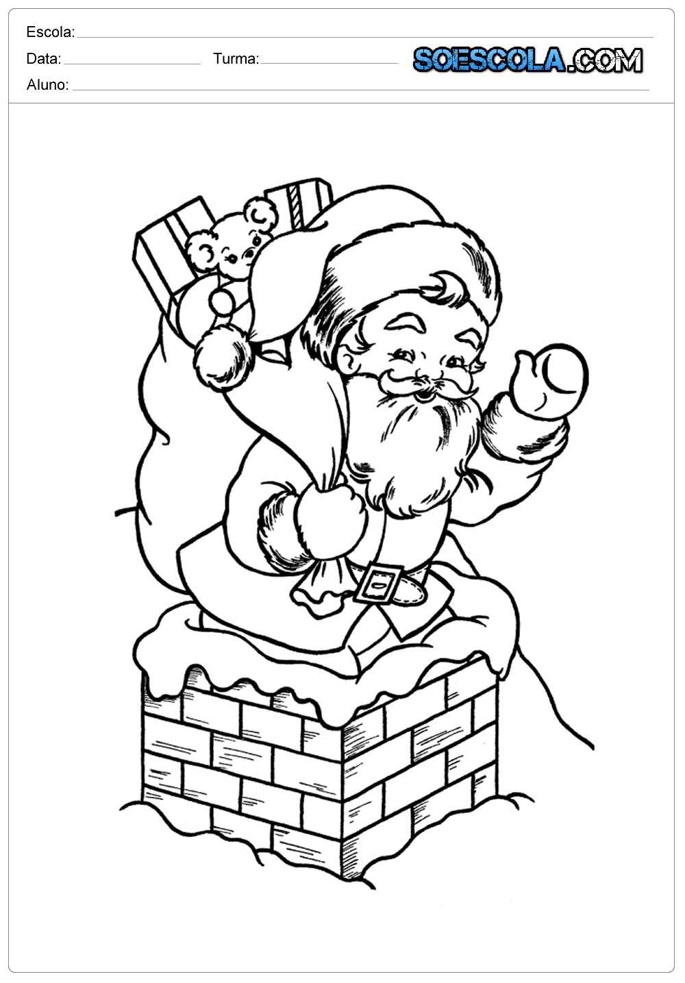christmas santa claus coloring pages free printable - 670×820