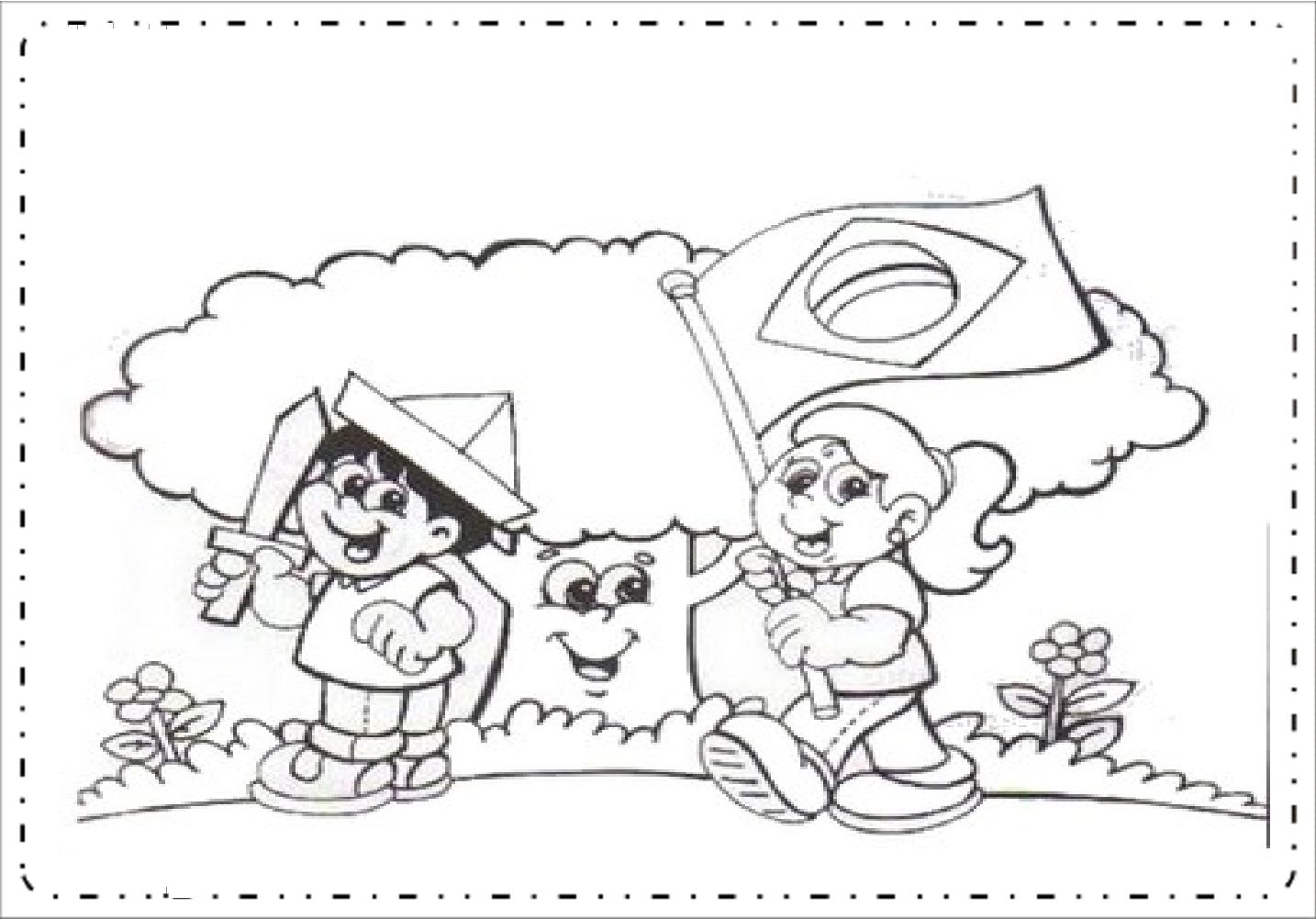 Desenhos Dia Da Bandeira Para Colorir E Imprimir So Escola