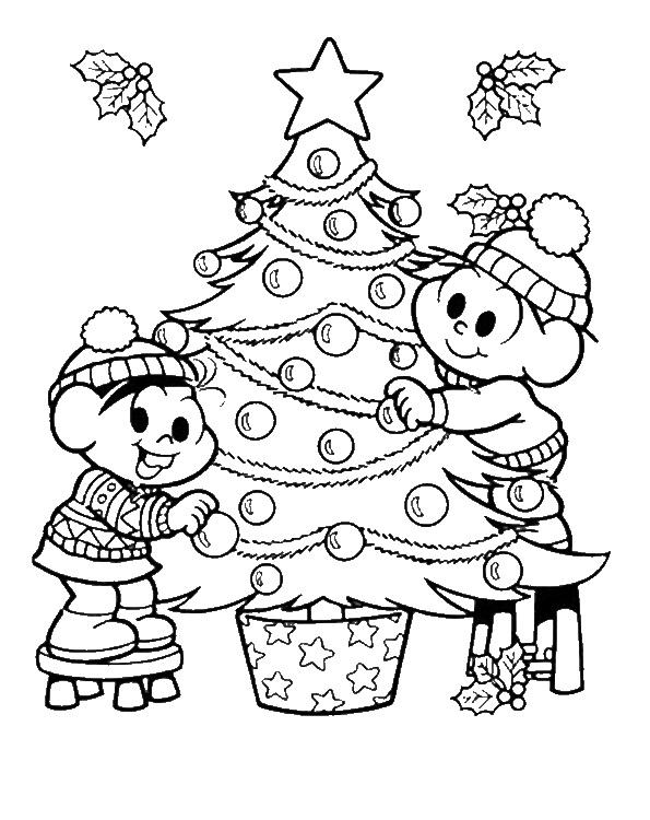 Desenhos Do Natal Para Colorir Turma Da Monica So Escola