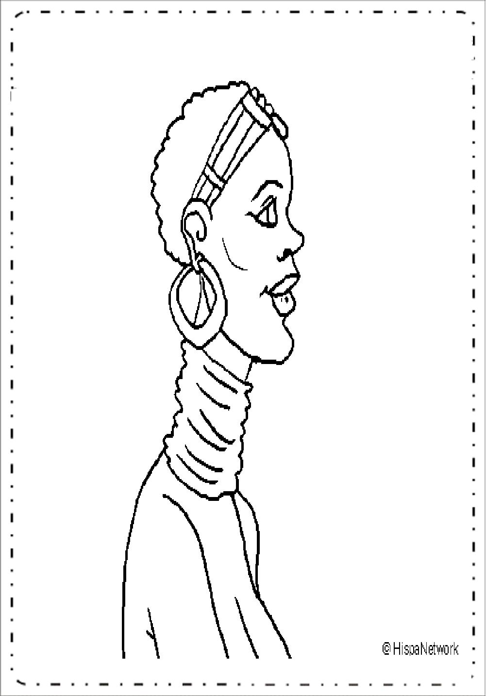 Desenhos para colorir com temas africanos - Pintar, Imprimir e Colorir.