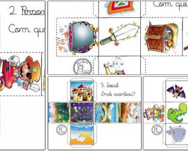História criativa em Cubo - Produção de Texto e História Coletiva.