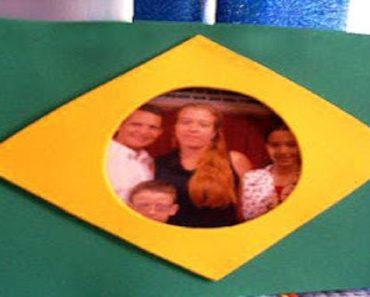 Lembrancinha Porta Retrato Dia da Bandeira com moldes para imprimir.