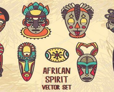 Máscaras Dia da Consciência Negra - Máscaras Africanas - Imprimir e Colorir
