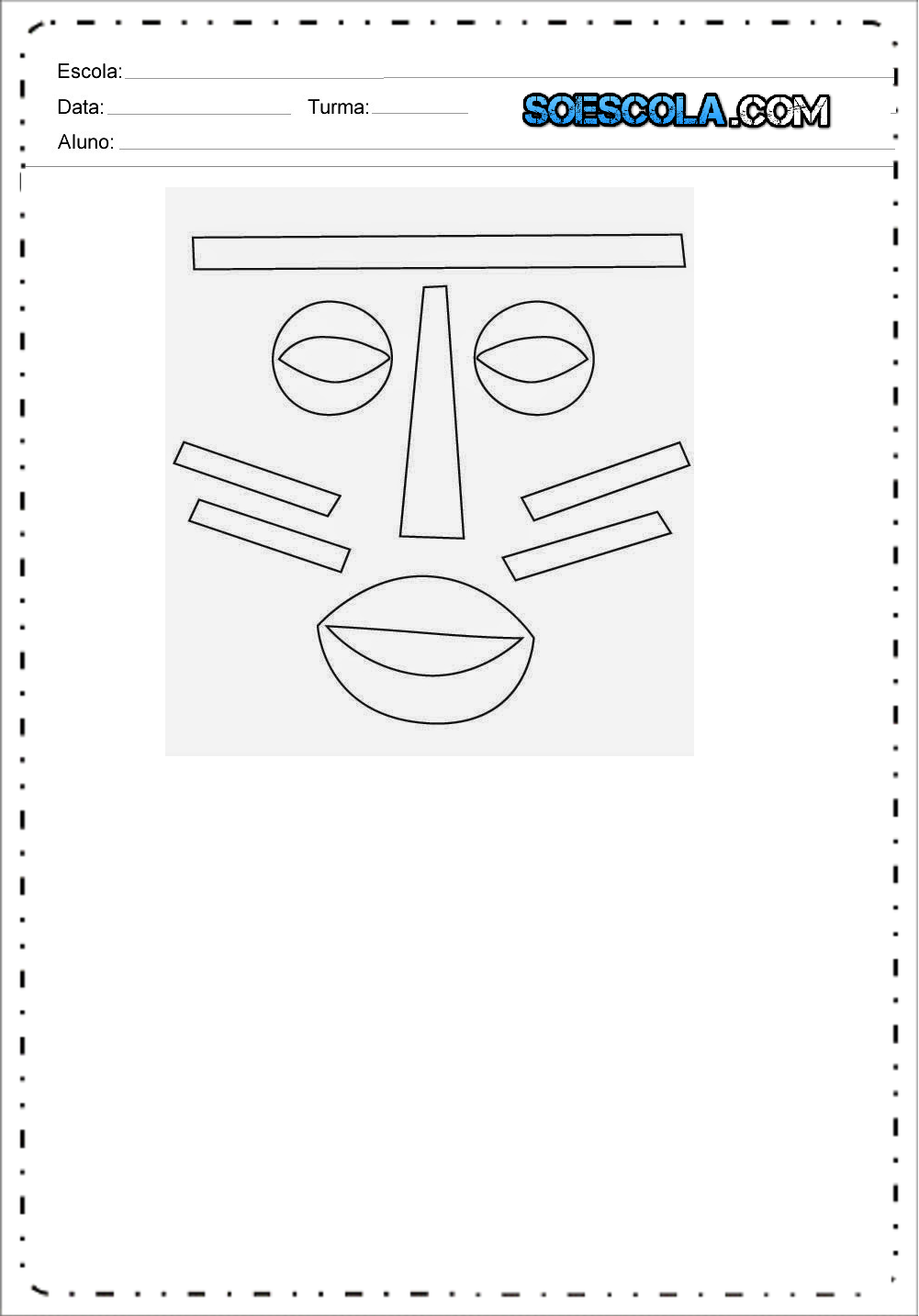 Máscaras Dia da Consciência Negra - Para Imprimir - Máscaras Africanas