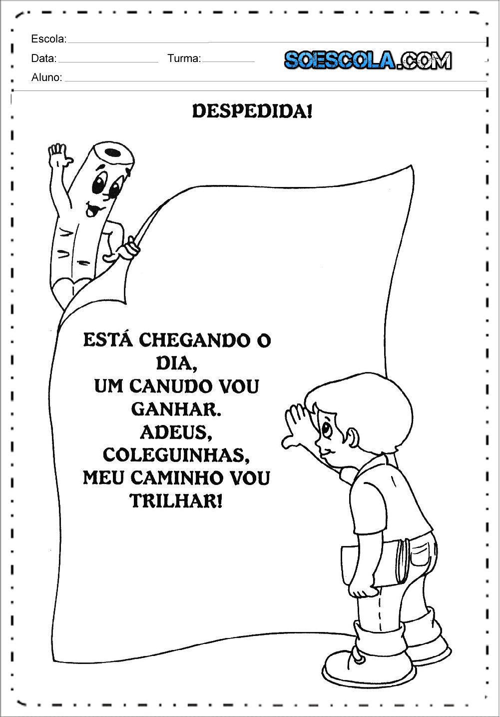 Mensagens E Juramentos Para Formatura Infantil Para Imprimir
