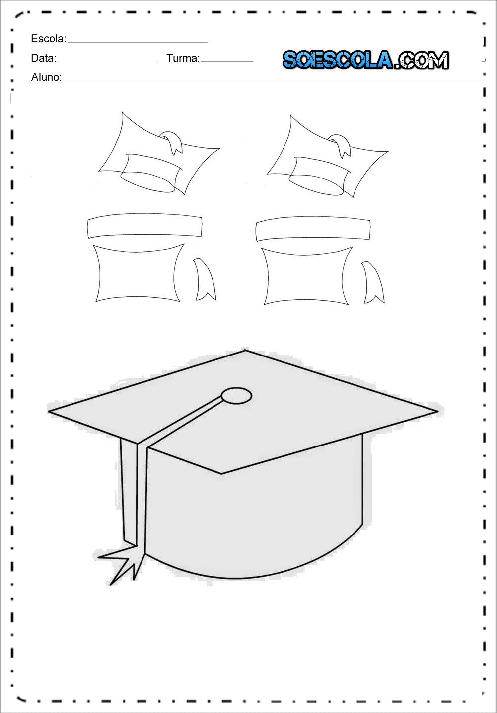 Chapeu De Formatura Passo A Passo Com Moldes Para Imprimir