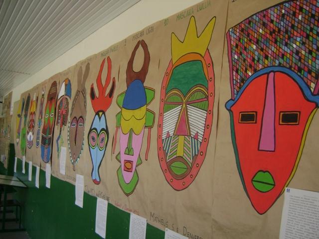 Mural de Máscaras Dia da Consciência Negra - 20 de Novembro.