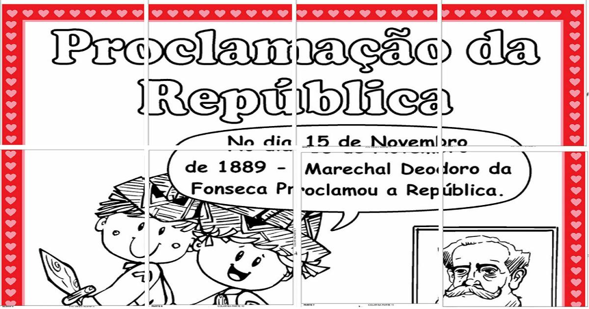 Mural Dia da Proclamação da Republica para montar.