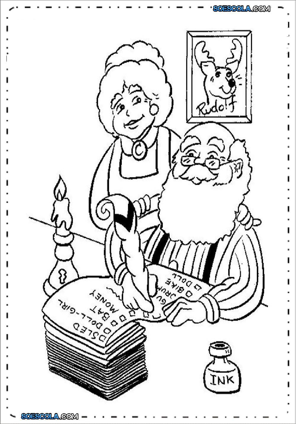 Papai Noel para colorir e imprimir - Desenhos para pintar