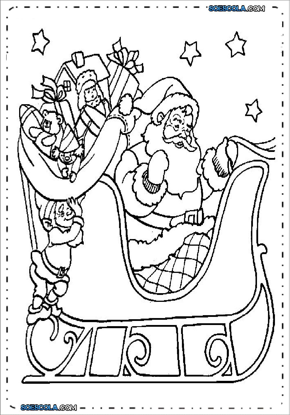 Papai Noel Para Colorir E Imprimir Desenhos Para Pintar