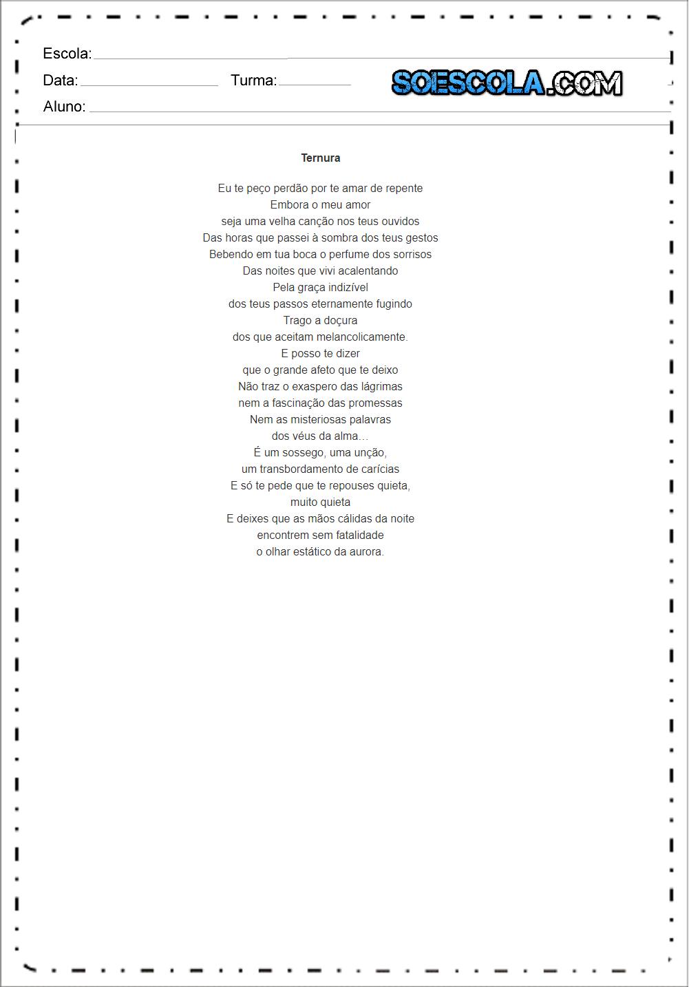 Vinicius De Moraes Poemas Para Imprimir E Frases