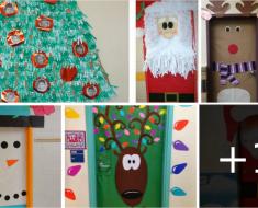 Portas decoradas para o natal - Ideias e Sugestões.