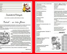 Simulado de Português 4 ano sobre Natal - Para imprimir - Baixe em PDF