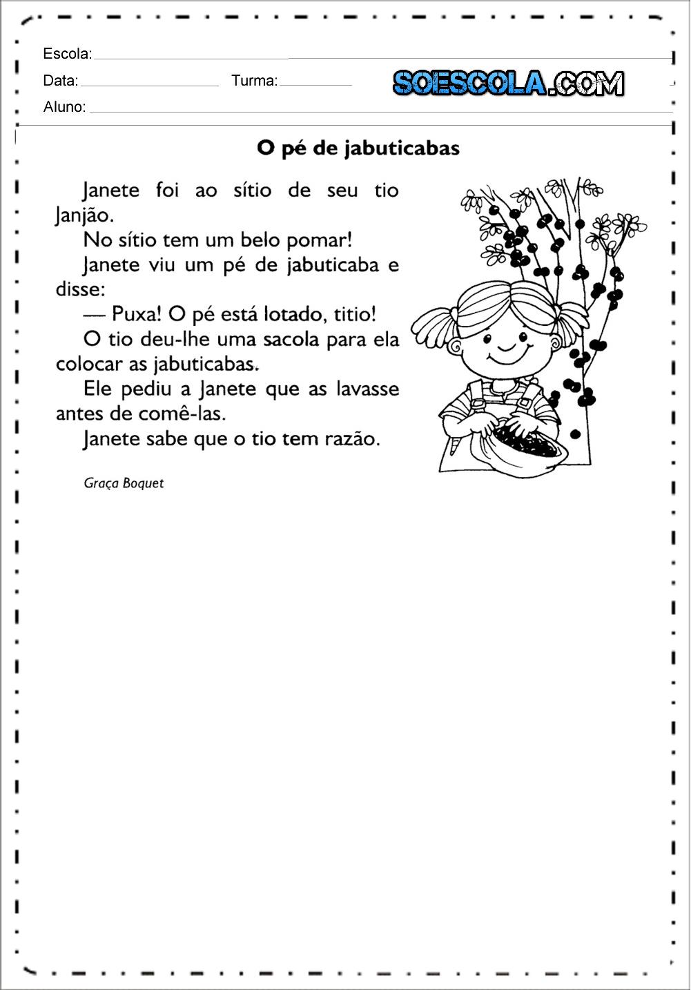 Textos para leitura - Textos e Histórias Curtas para imprimir e baixar.