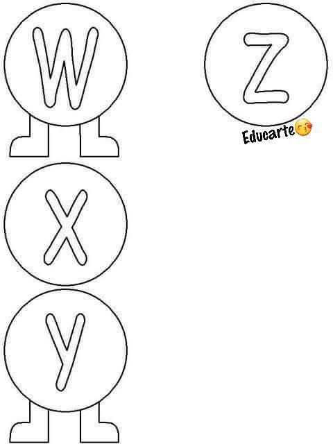 Alfabeto Centopeia com Moldes de EVA para imprimir