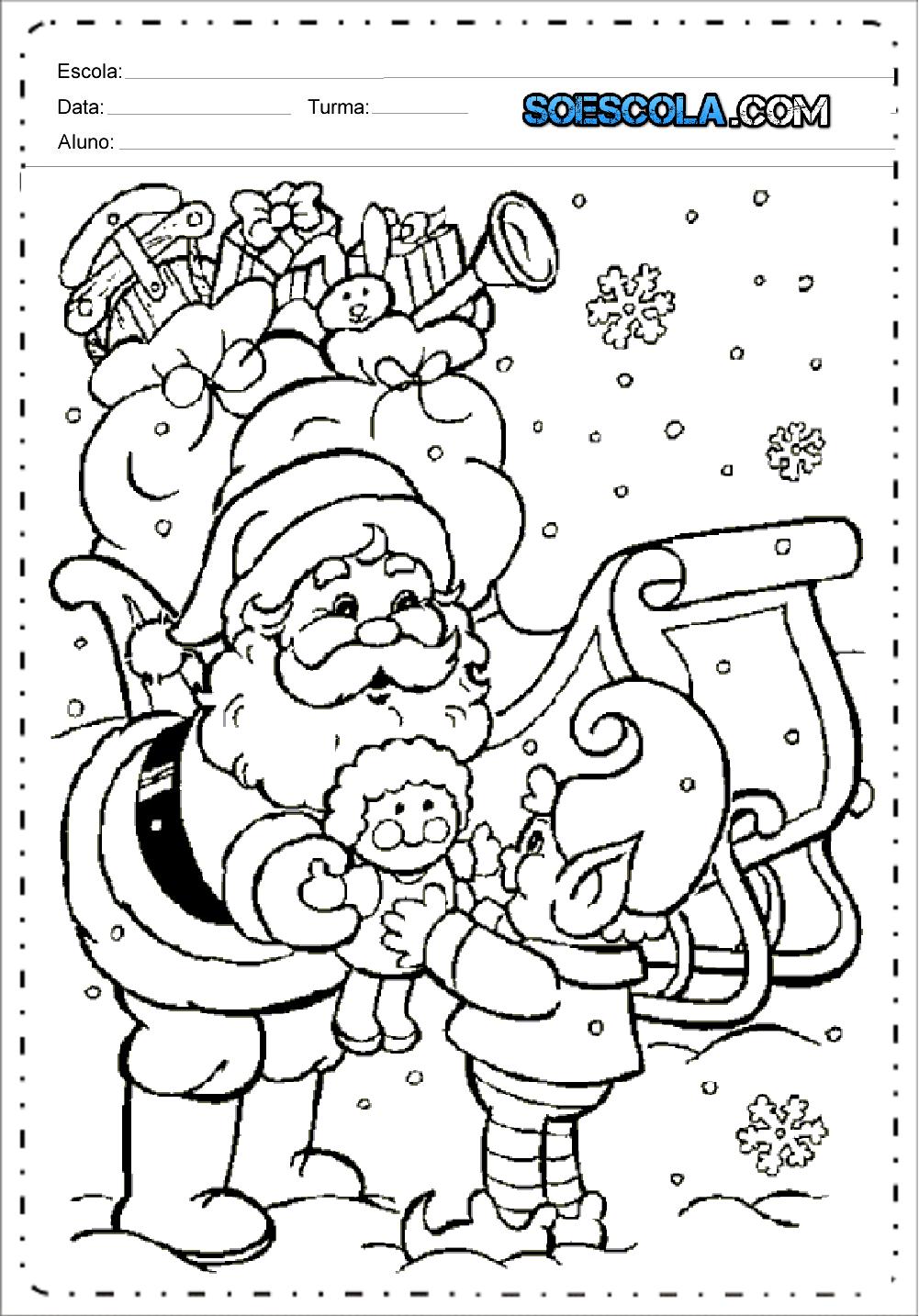 Atividades de Variadas de Natal - Para imprimir e Colorir