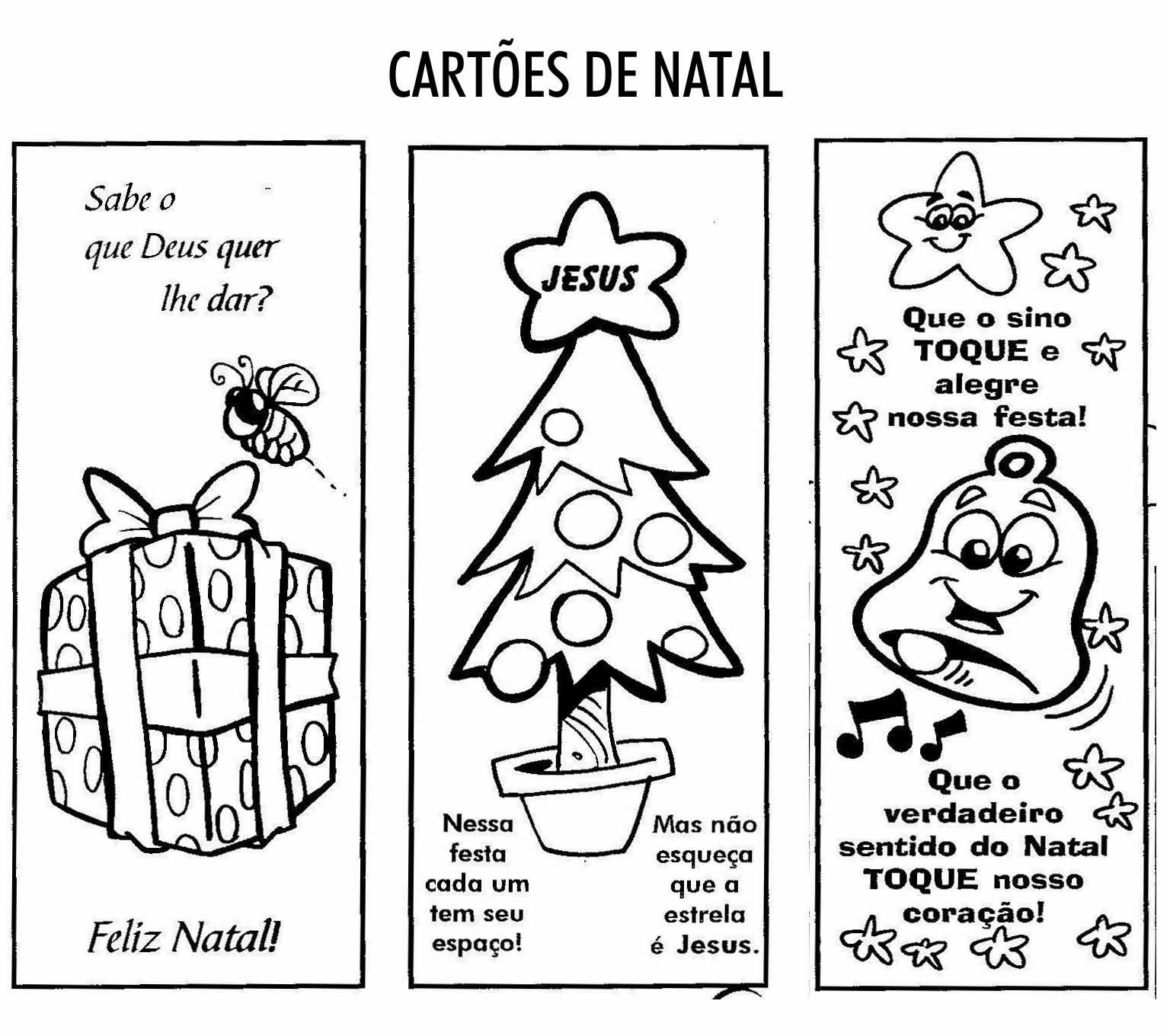 Cartões de natal para colorir e imprimir - Cartão Natalino