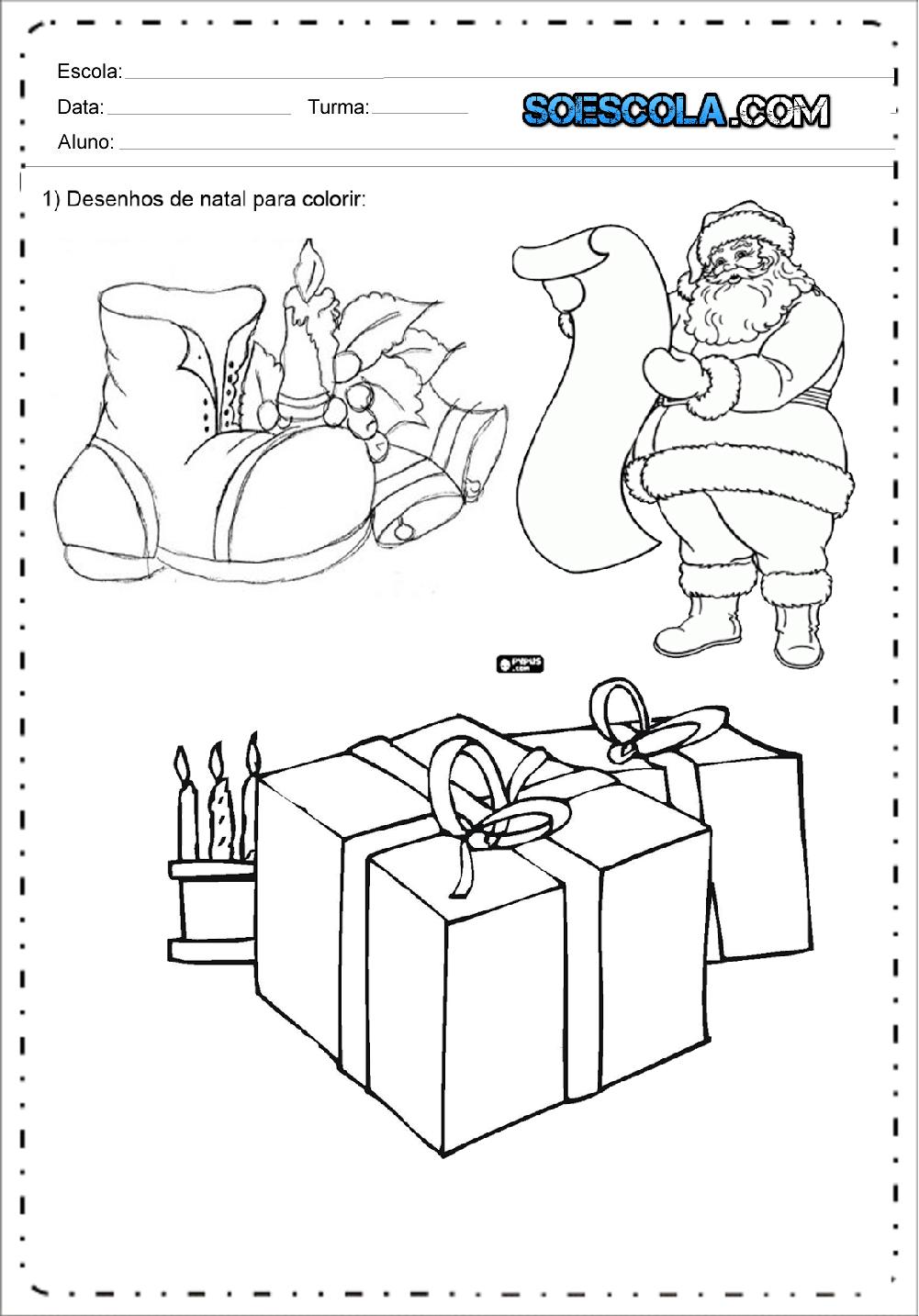 Desenhos de natal para colorir e imprimir – Desenhos Natalinos