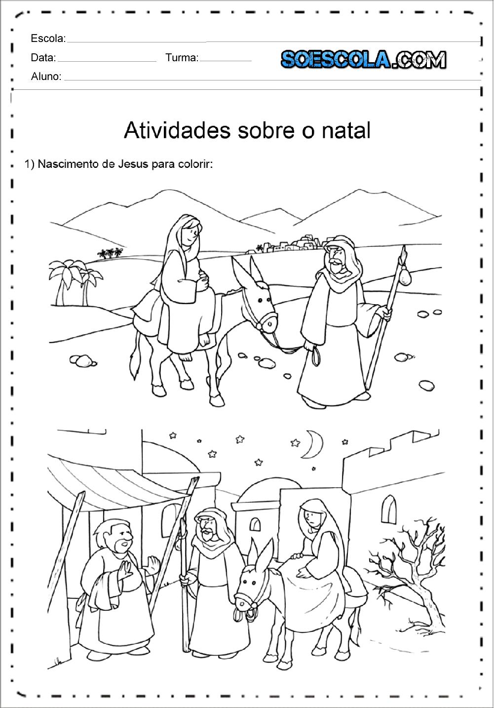 Desenhos De Presepio De Natal Para Colorir E Imprimir Em Pdf