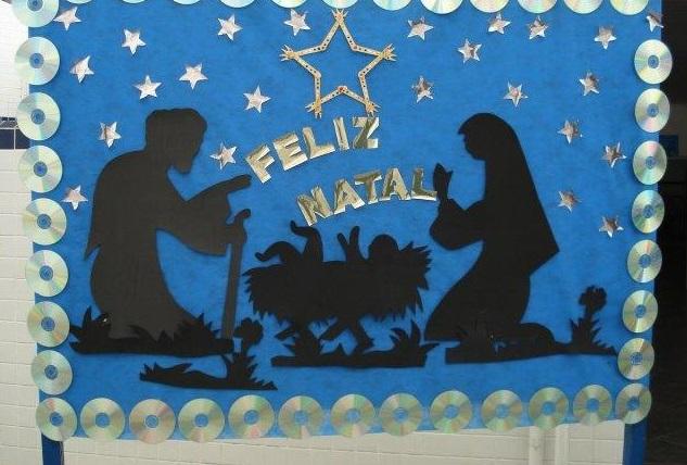 Mural de Natal - Ideias e Sugestões com moldes para imprimir