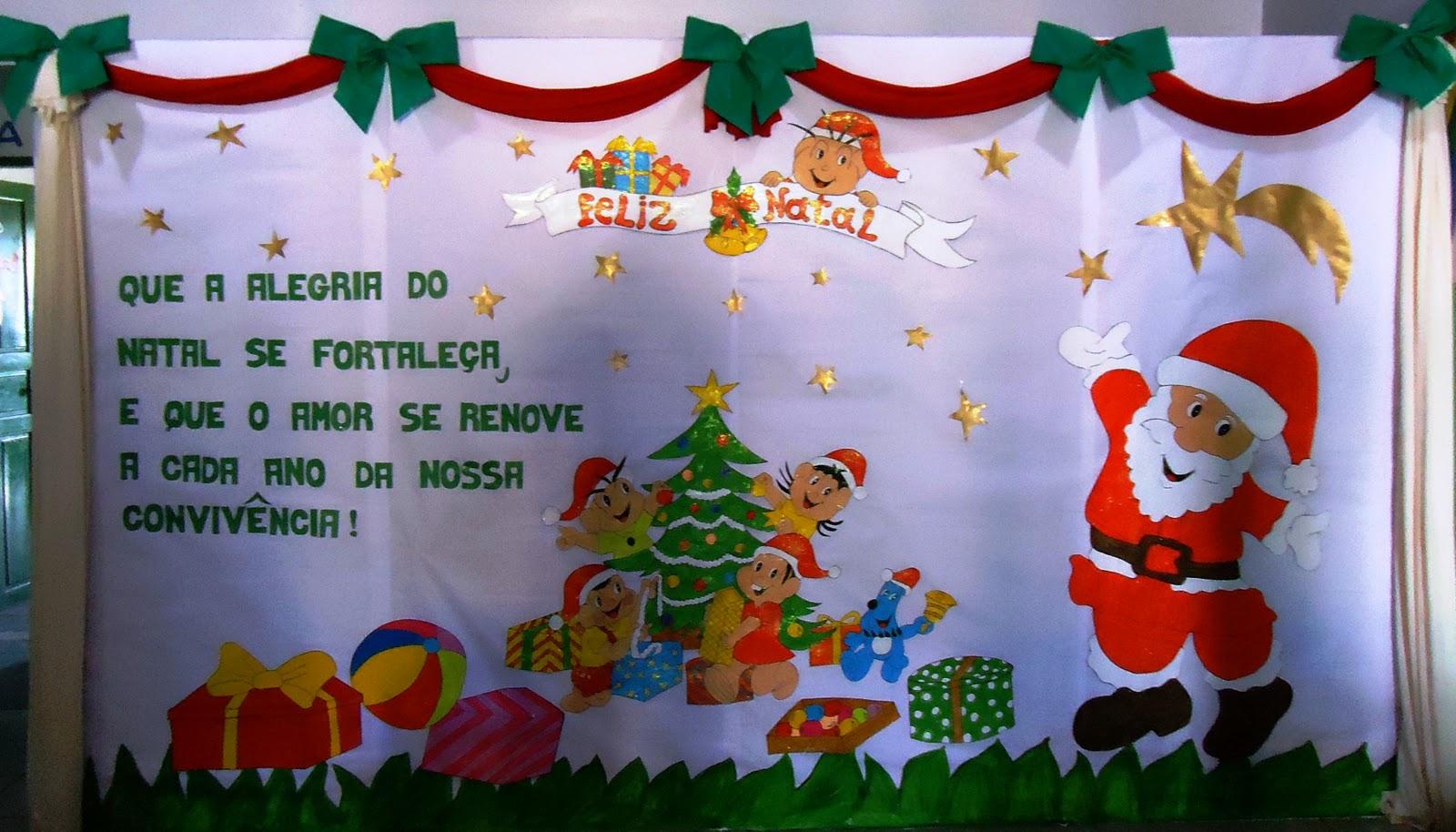 mural de natal s escola