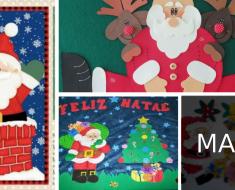 Painéis de Natal de EVA ou Feltro na escola - Ideias e Sugestões
