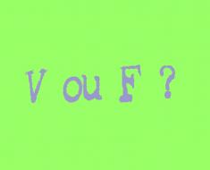 Plano de aula ortografia V ou F para Ensino Fundamental