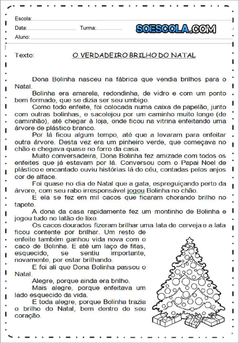 Textos Curtos sobre Natal para imprimir - Textos para Imprimir