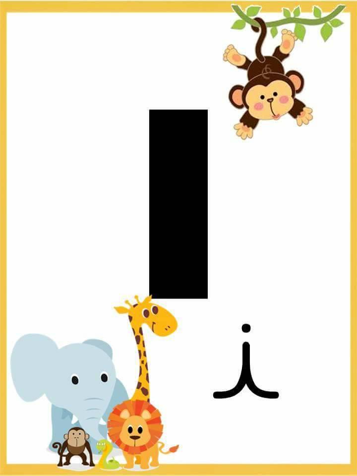 Alfabeto com Letra Bastão e Cursiva - Alfabeto Ilustrado para imprimir