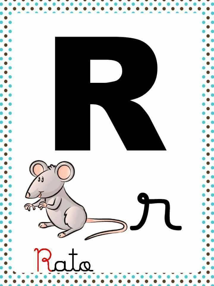 Alfabeto com Letra Cursiva e Bastão para imprimir - Fichas Ilustradas