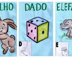 Alfabeto em Libras para imprimir - Fichas Ilustradas