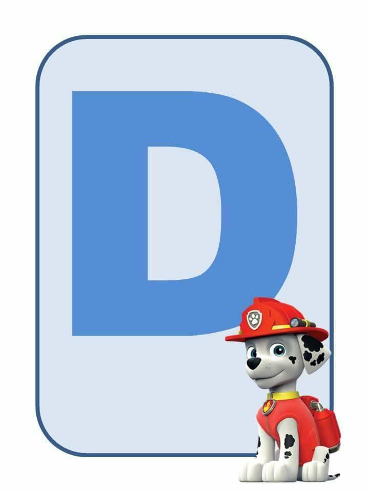 Alfabeto Patrulha Canina - Fichas ilustradas para imprimir