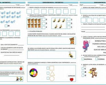 Atividades Diagnósticas de Matemática e Português