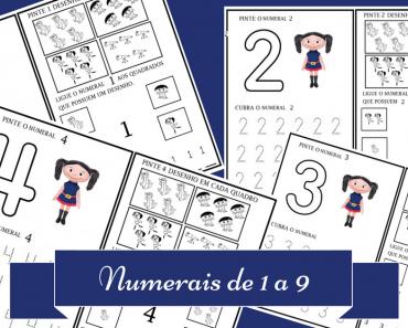 Atividades para trabalhar os números de 1 a 9