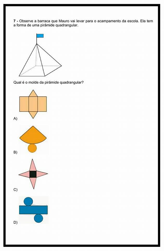 Avaliação de Matemática para o 5° ano - Atividades Educativas
