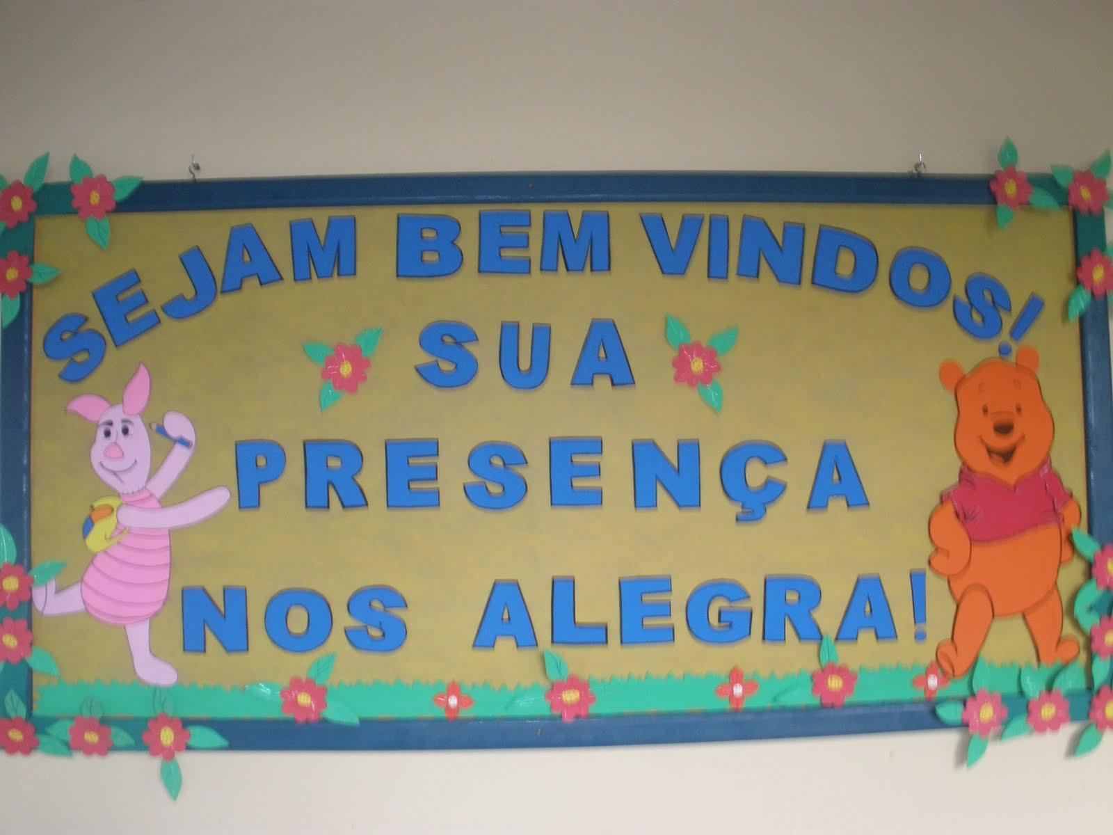 Cartaz de Boas Vindas em EVA para sala de aula - Painéis e Murais