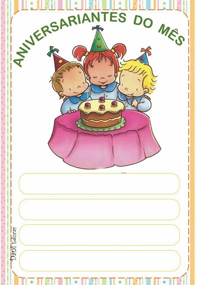 Cartaz para os aniversariantes do mês